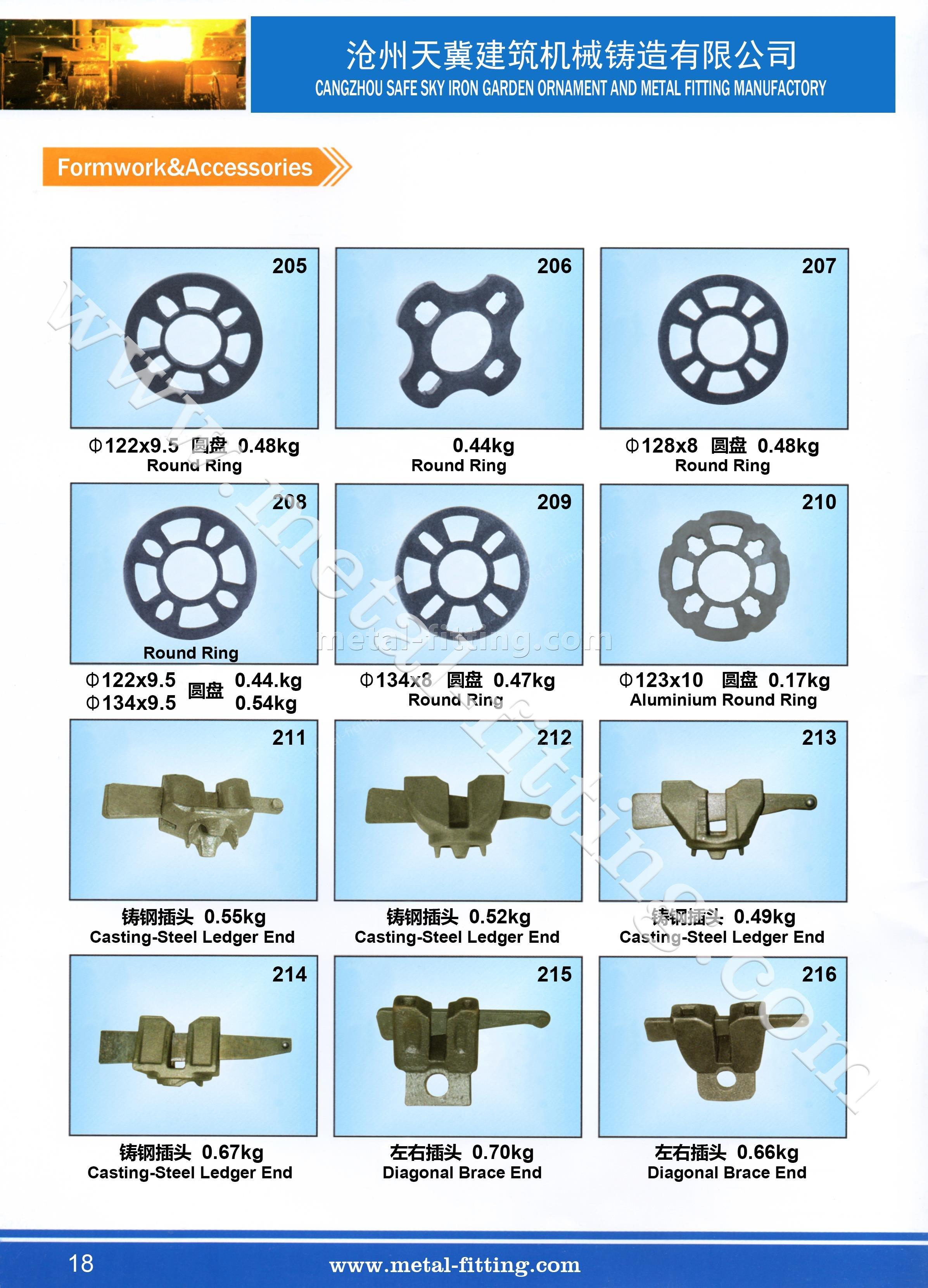 scaffolding ledger end,casting  steel ledger end,scaffolding fitting-18
