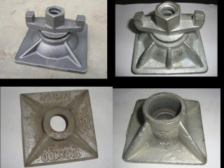 Cheap price forged anchor steel or ductile iron nut plate of scaffolding parts building fittings