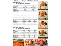 cement /concret mixer electronic product brochure