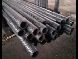 cast iron or steel tube of the scaffolding