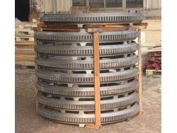 cast iron large mixer wheels, metal iron ring gear for concret mixer
