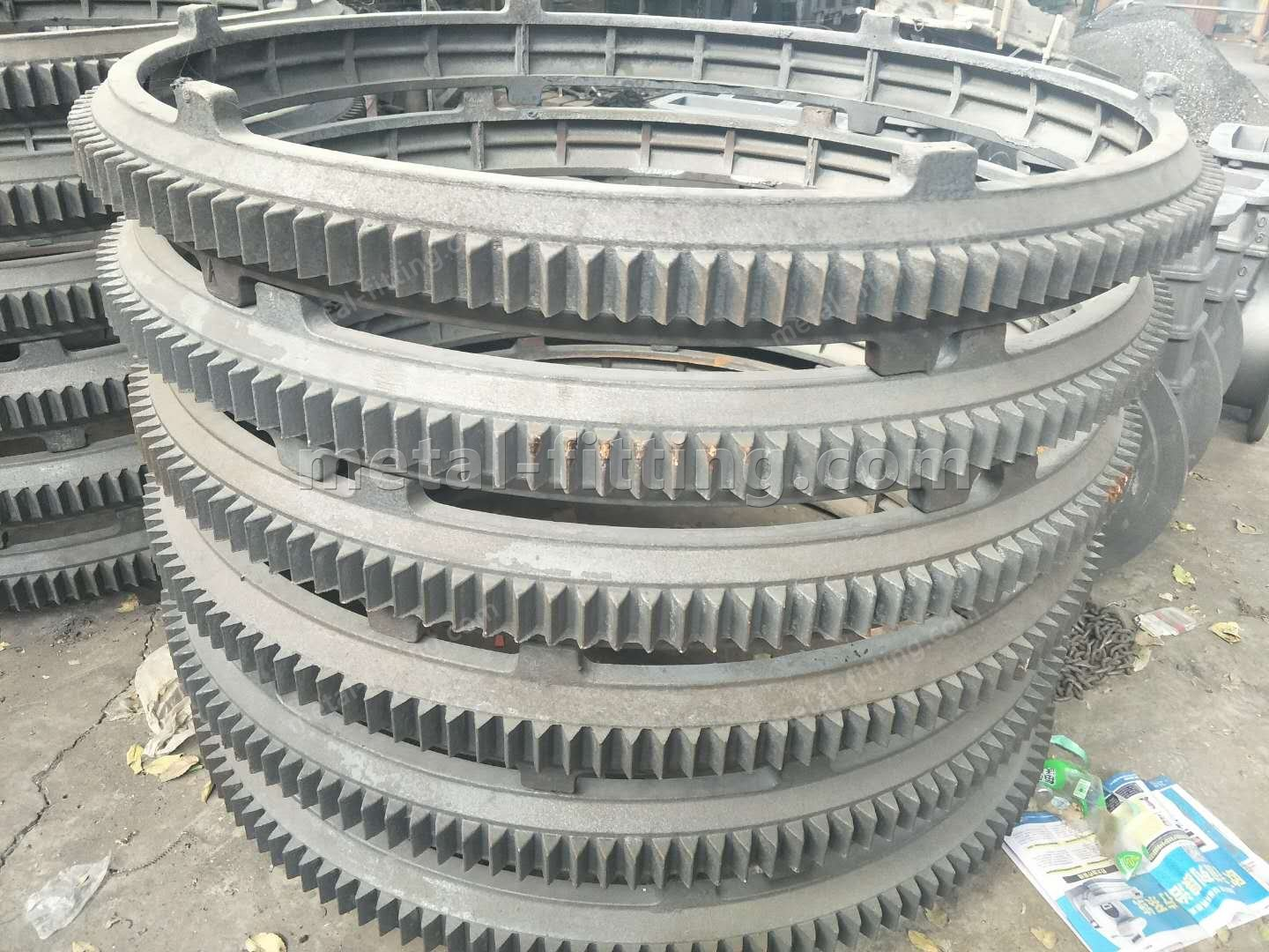 Casted iron Ring Gear and Pulley for concret Mixer-287782734995994966