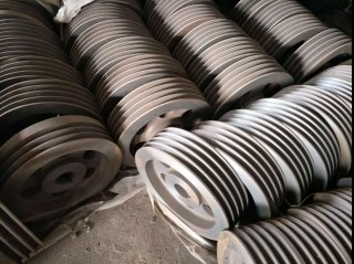 pully,cast iron pully,iron gear ring for concrete mixer